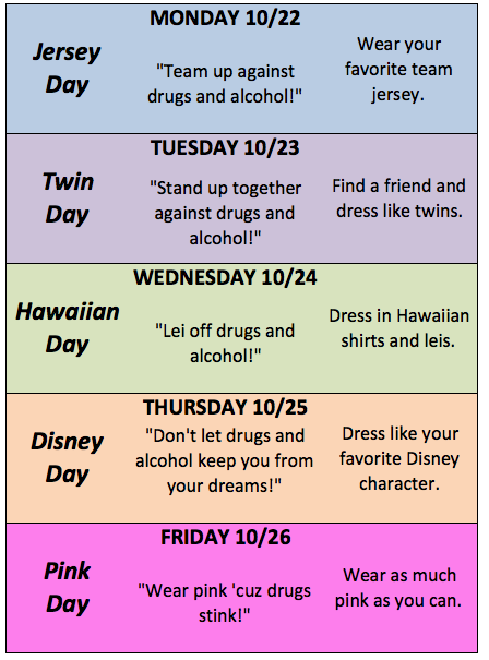 Dress-up week plans