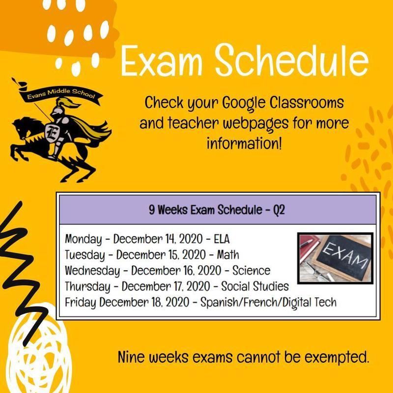 EMS Exam Schedule