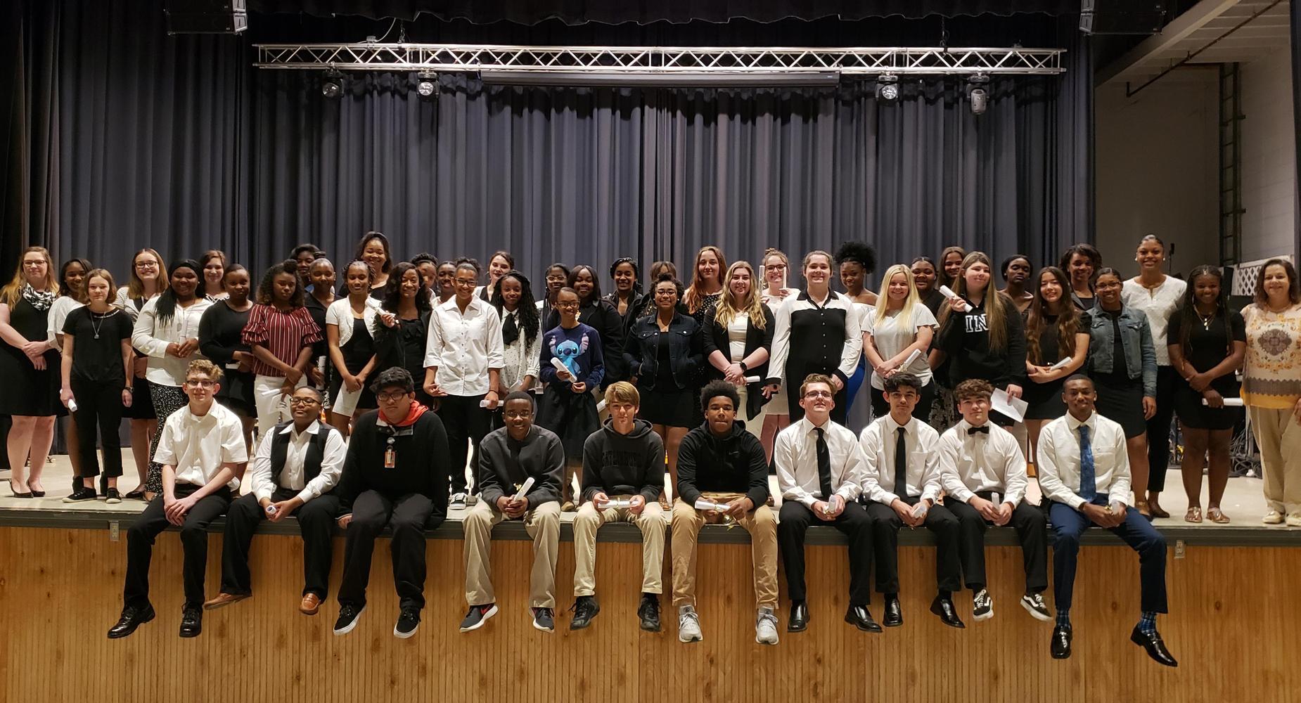 2018-2019 National Honor Society Inductees