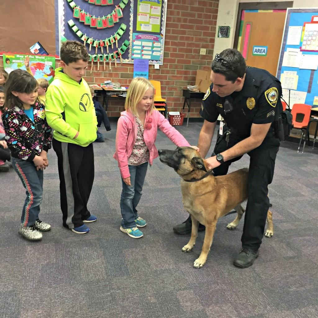 K-9 Dog with 3rd graders #4