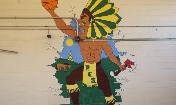 Plaisance School Gym Art