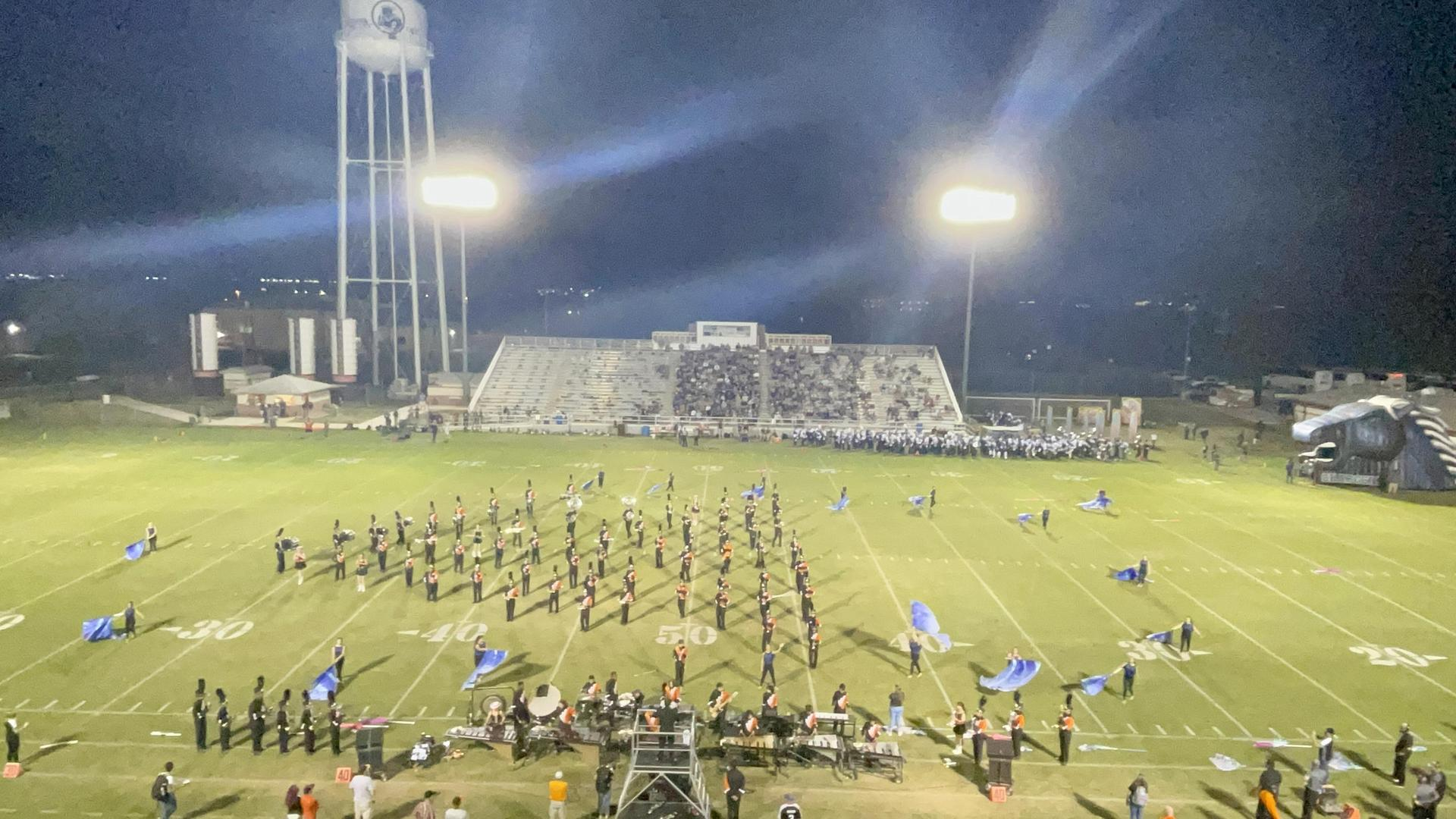 Panther Band at the Champion Football Game