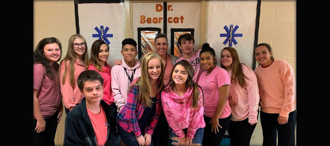 Congratulations to our VHS Health Science class wearing pink for Breast Cancer Awareness Month