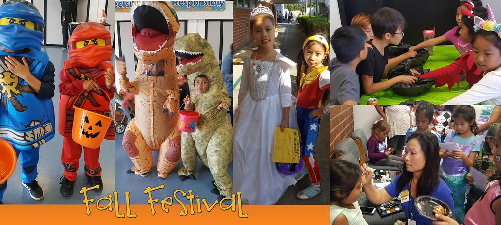 Students wearing their Halloween costume during DeMille's Fall Festival