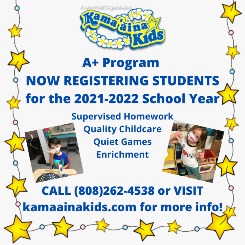 A+ Kamaaina Kids Registration Packet Featured Photo