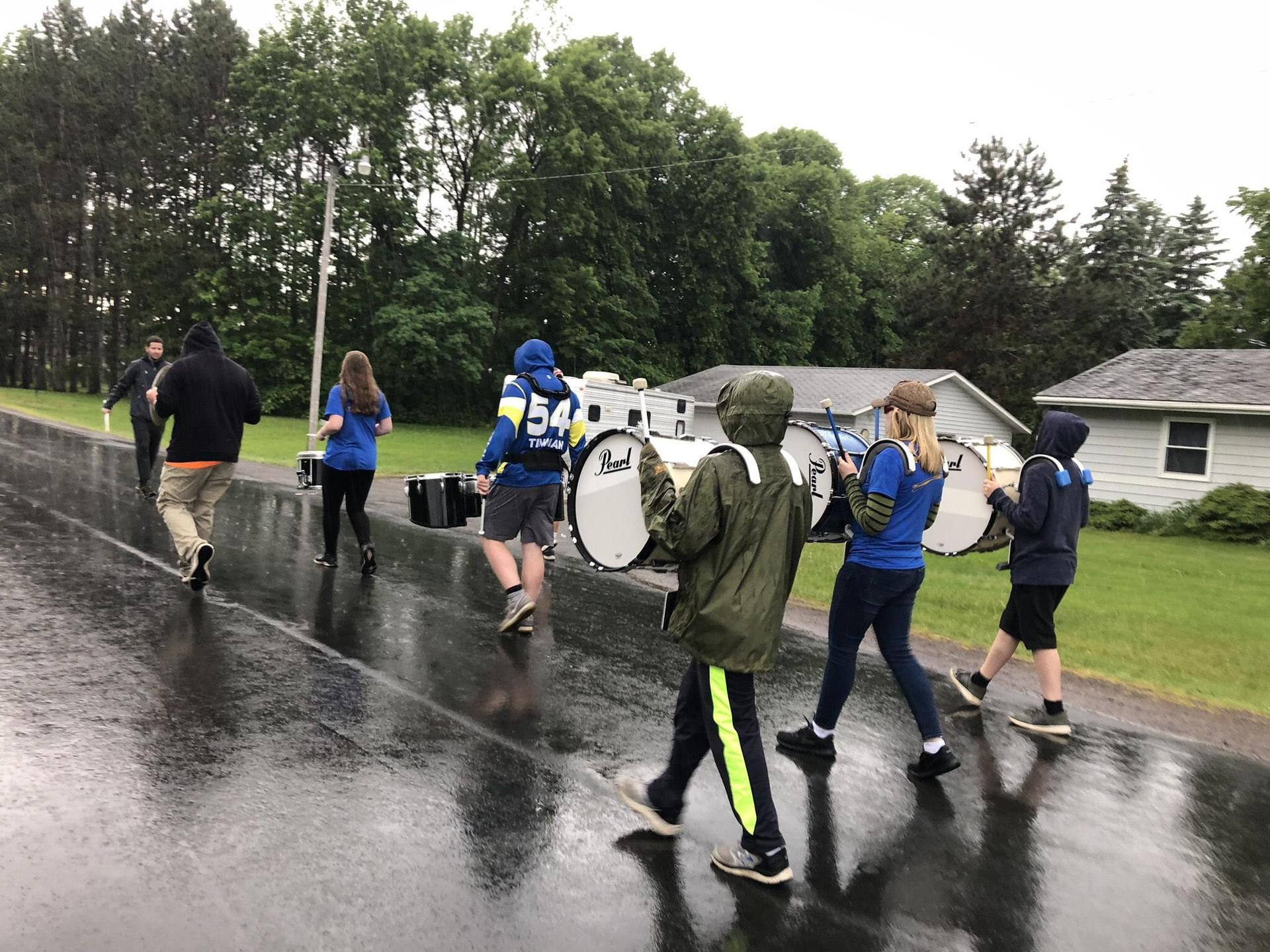 Practicing in the rain