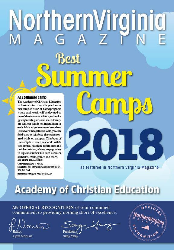 Northern Virginia Magazine Best Summer Camps 2018