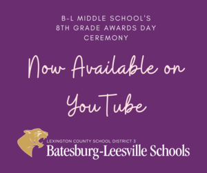 Video from the 8th Grade Awards Day Ceremony Now Available on YouTube
