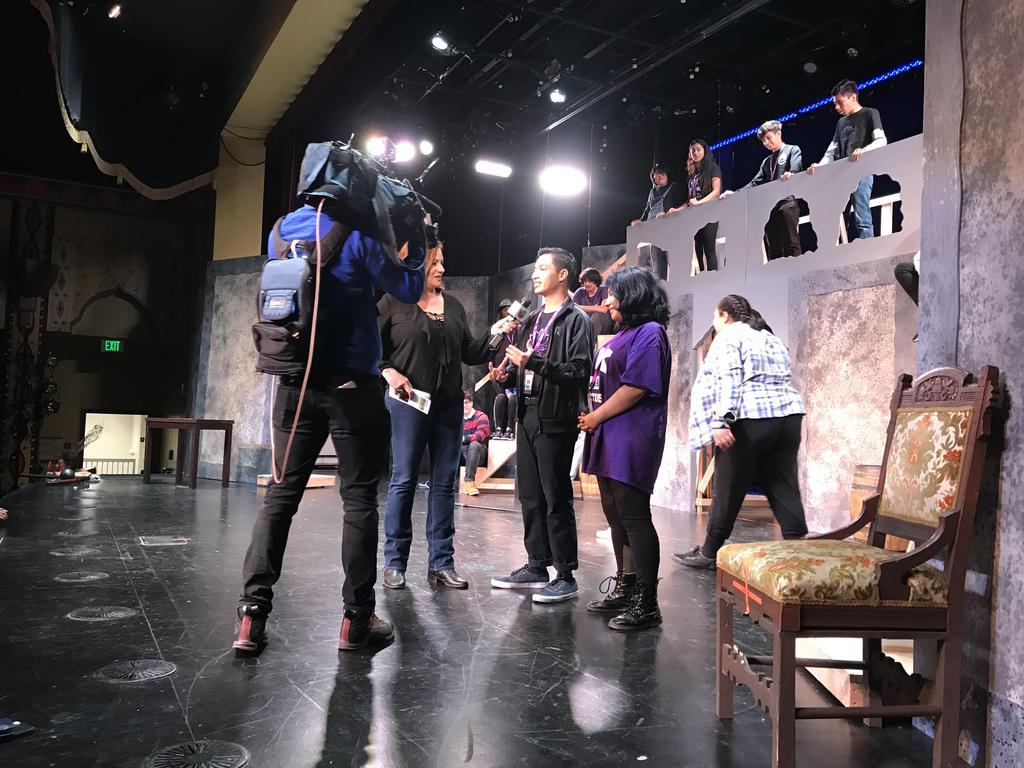 LAHSA She Kills Monsters Student Interview Telemundo