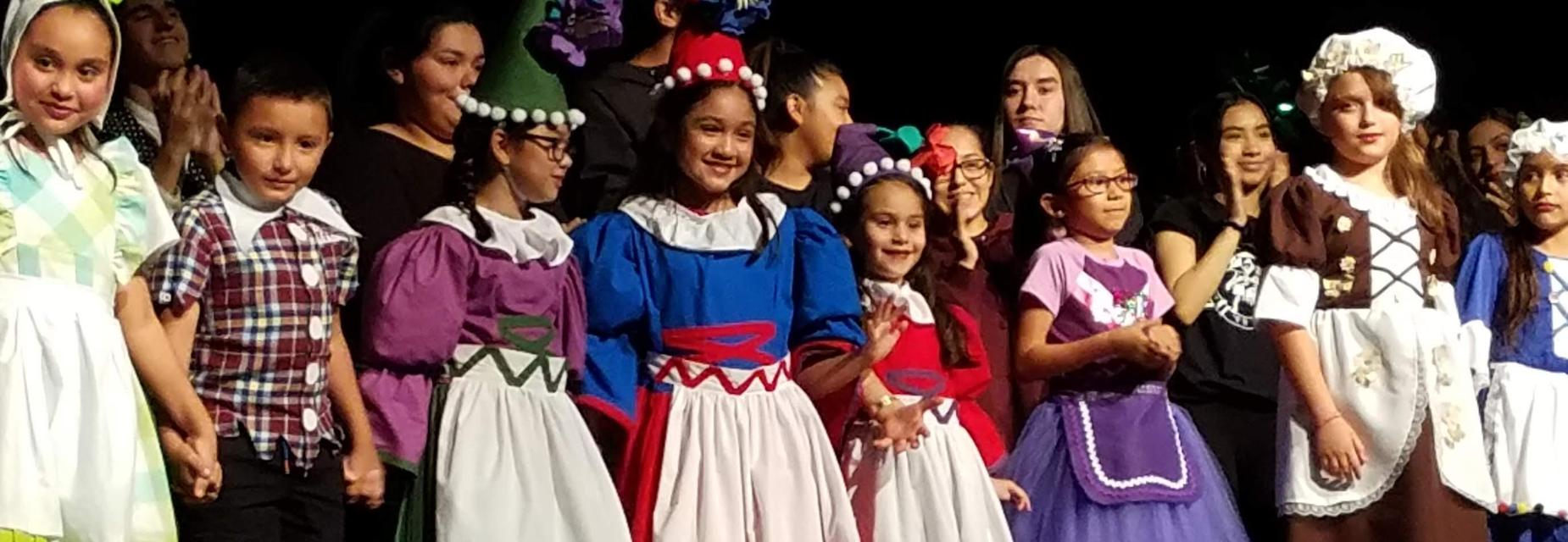 Wizard of Oz students on stage