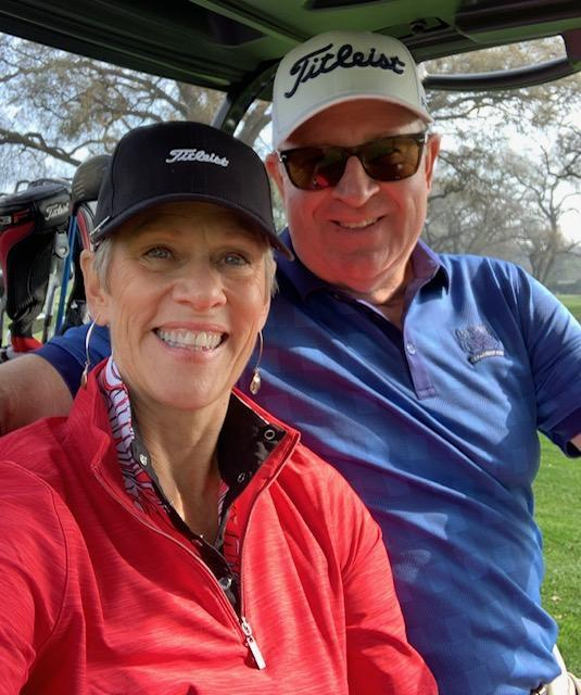 Golf with husband