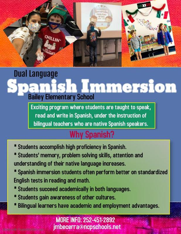 Spanish Immersion at Bailey!