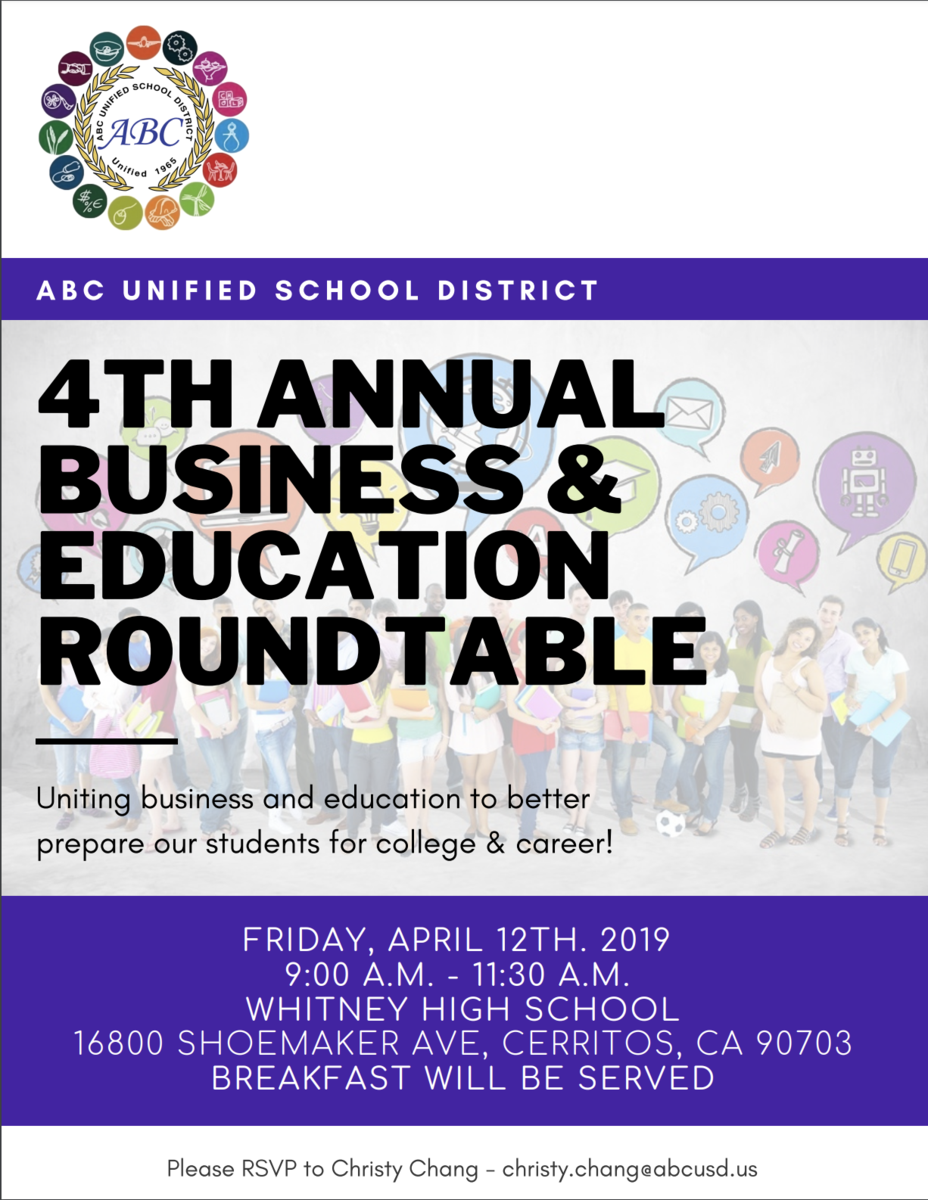 4th Annual Business and Education Roundtable Flyer