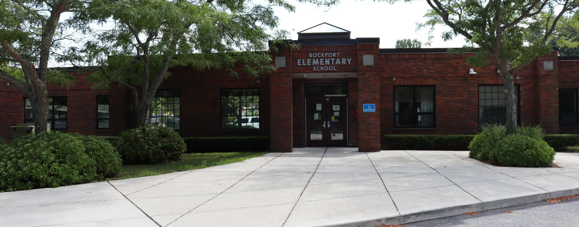 Front Entryway of the Rockport Elementary School