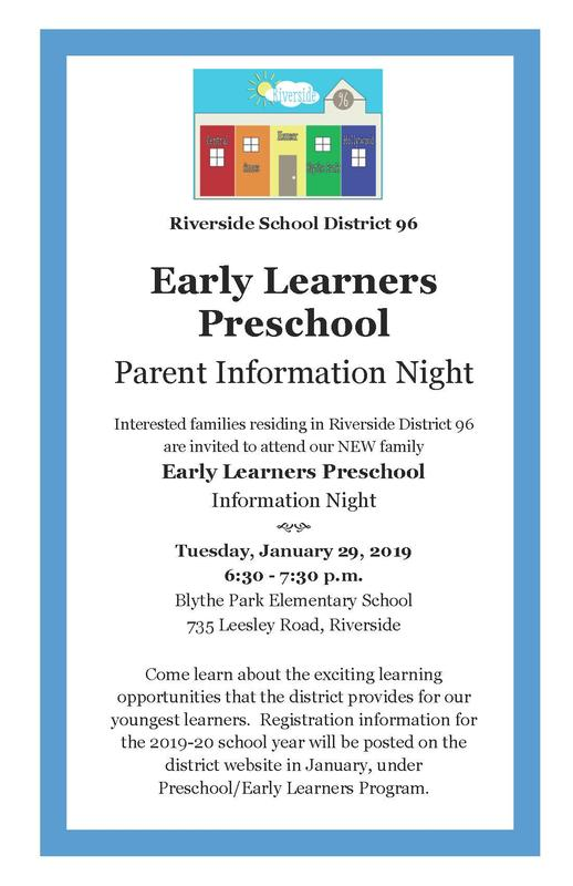 Early Learners Preschool Parent Information Night Featured Photo