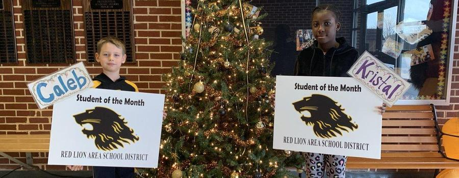 Students of the month for November 2019