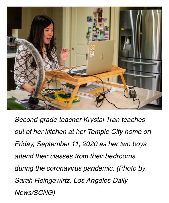 AUSD Teacher Krystal Tran is a Distance Learning Super Star! Featured Photo