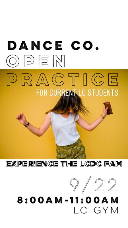LC Dance Company Open Practice Featured Photo