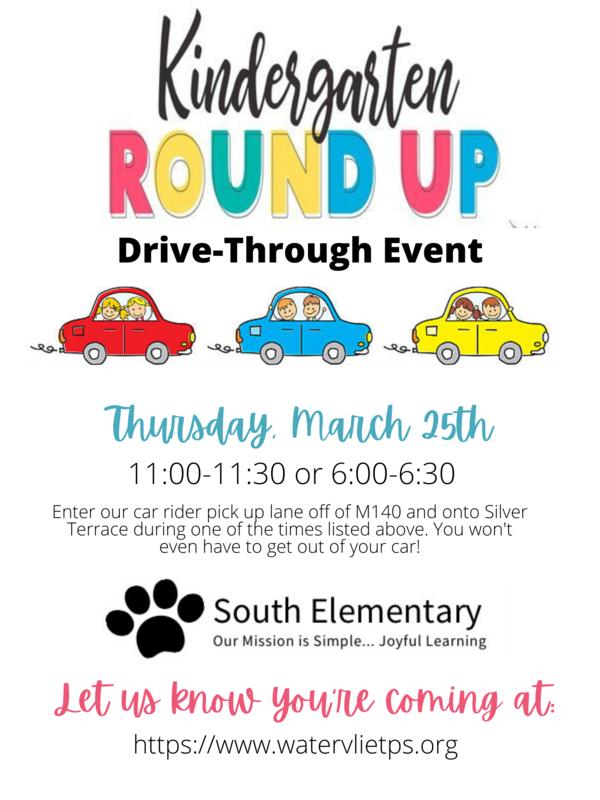 Kindergarten Round Up Information Flyer