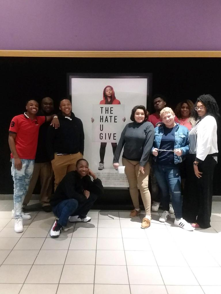 """GOA students complemented their reading of """"The Hate U Give"""" with a viewing of the newly released movie."""