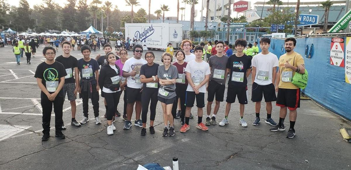 Group of students that ran 5K