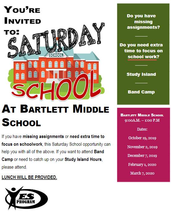 Saturday School at Bartlett!