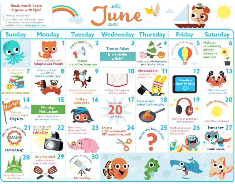 Epic calendar for June
