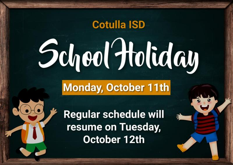 school holiday poster monday october 11th