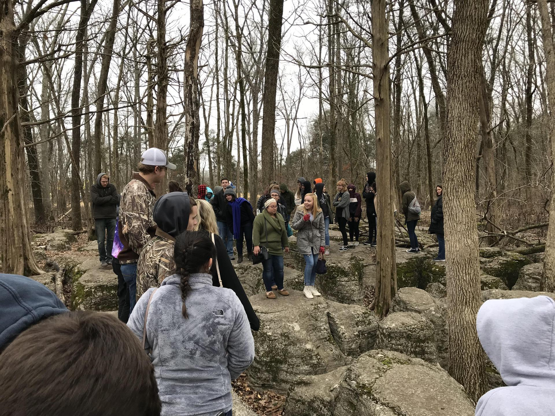 SCHS Historical Society visited Stones River National Battlefield - Extremely Cold Day, Feb 2018