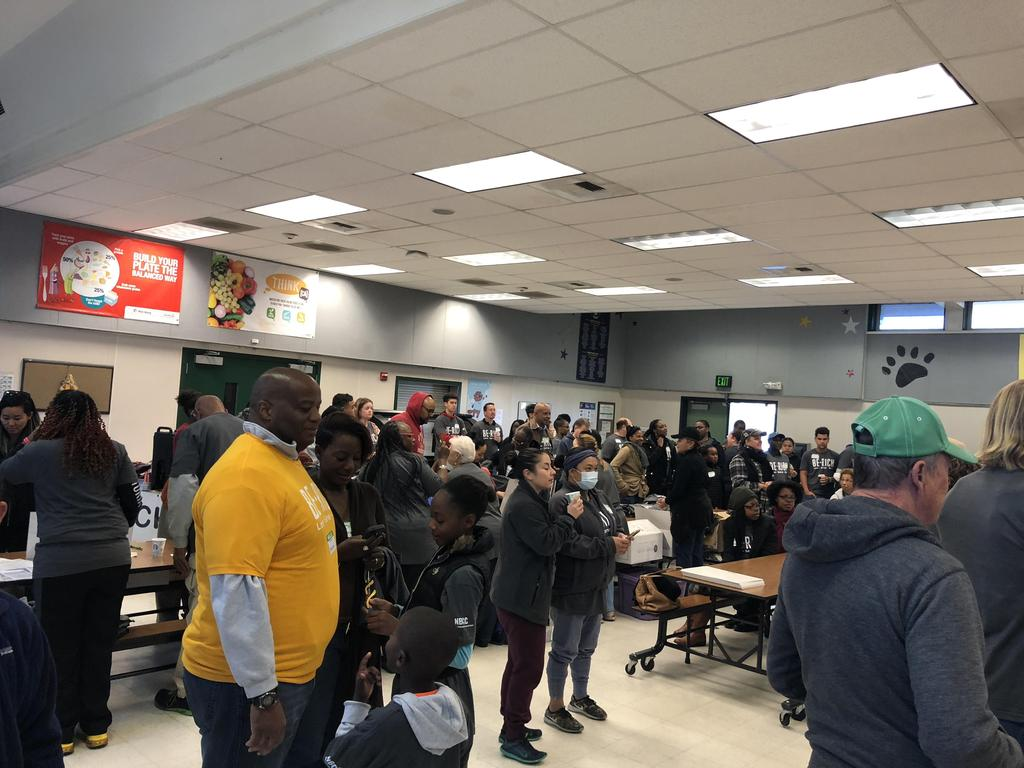 NBCC members gather in cafeteria