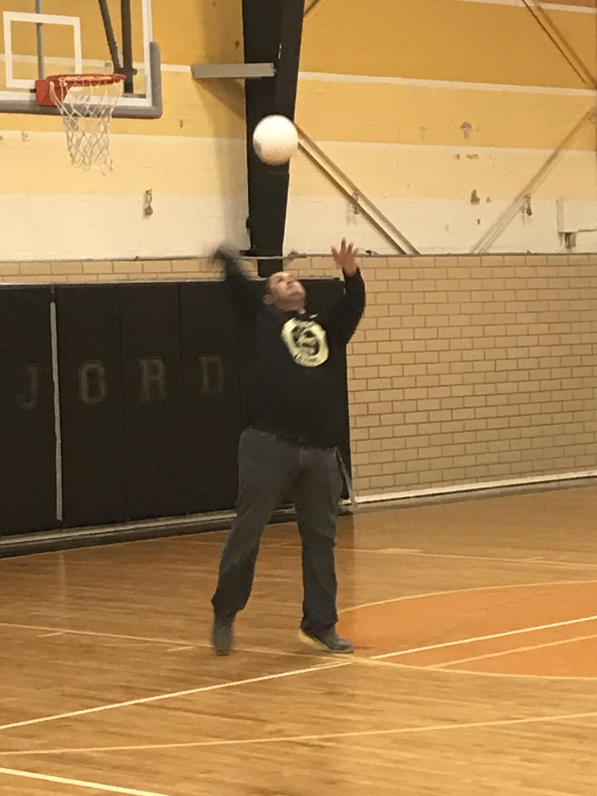 Student vs Staff volleyball game