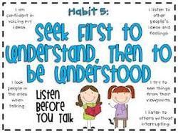Habit 5: Seek First to Understand then to Be Understood