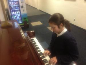 Nicole at piano