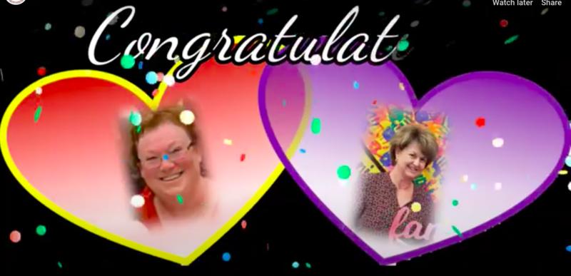 Congratulations Mrs. Pocock and Fournier