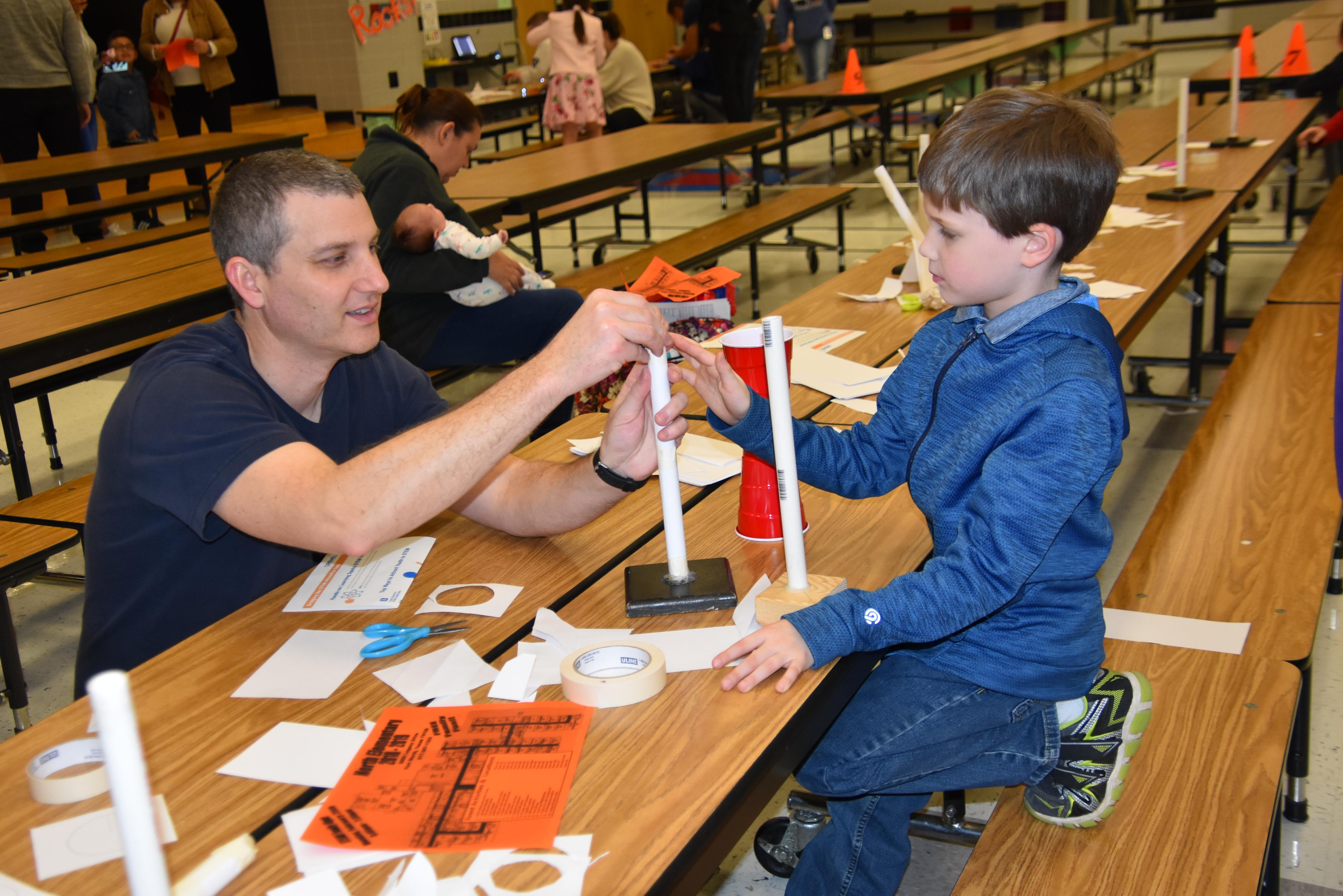 North Elementary families had the opportunity to preview what the kids learn in Science, Technology, Engineering, Arts and Math (STEAM) during the school's STEAM Family Night on Feb. 23.