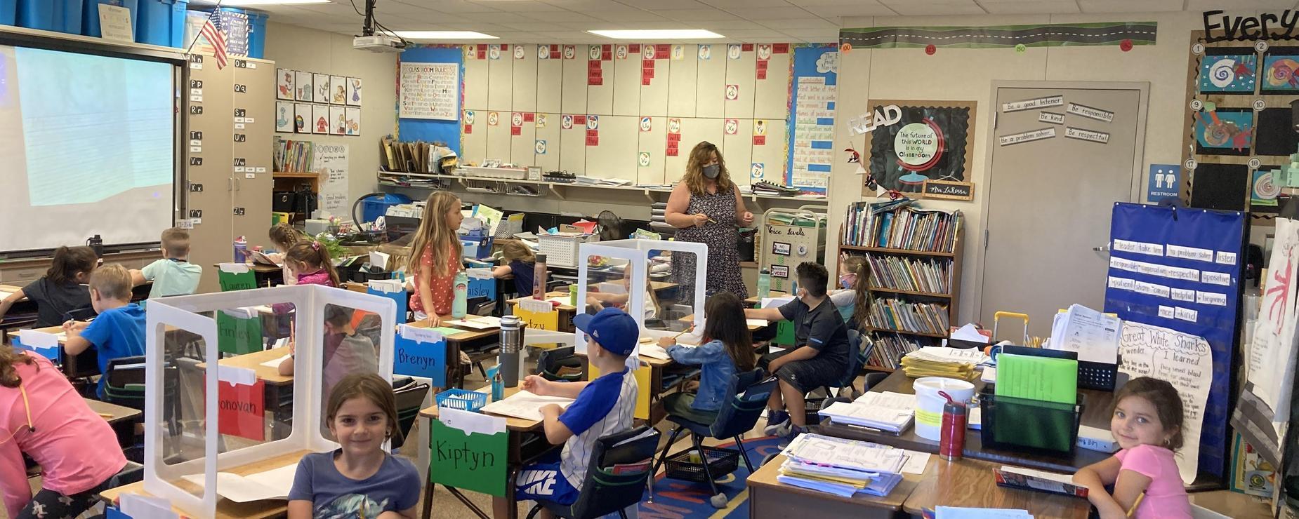 Covid LaRossa's 1st grade class