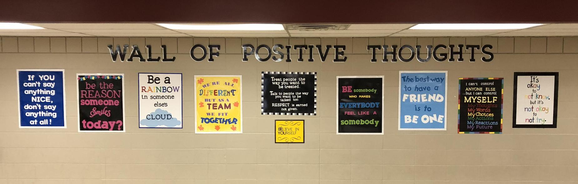 Wall of Positive Thoughts