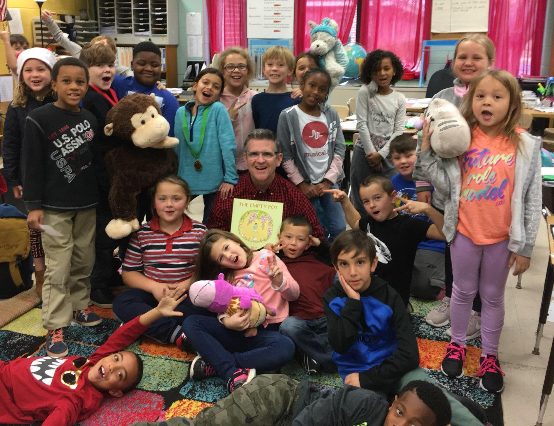 Mr. Brennan and 2nd graders