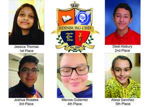 Five Edinburg CISD students advance to Regional Spelling Bee.