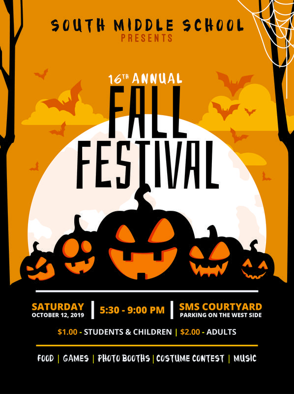 South Middle School Fall Festival, Sat. Oct 12, 2019
