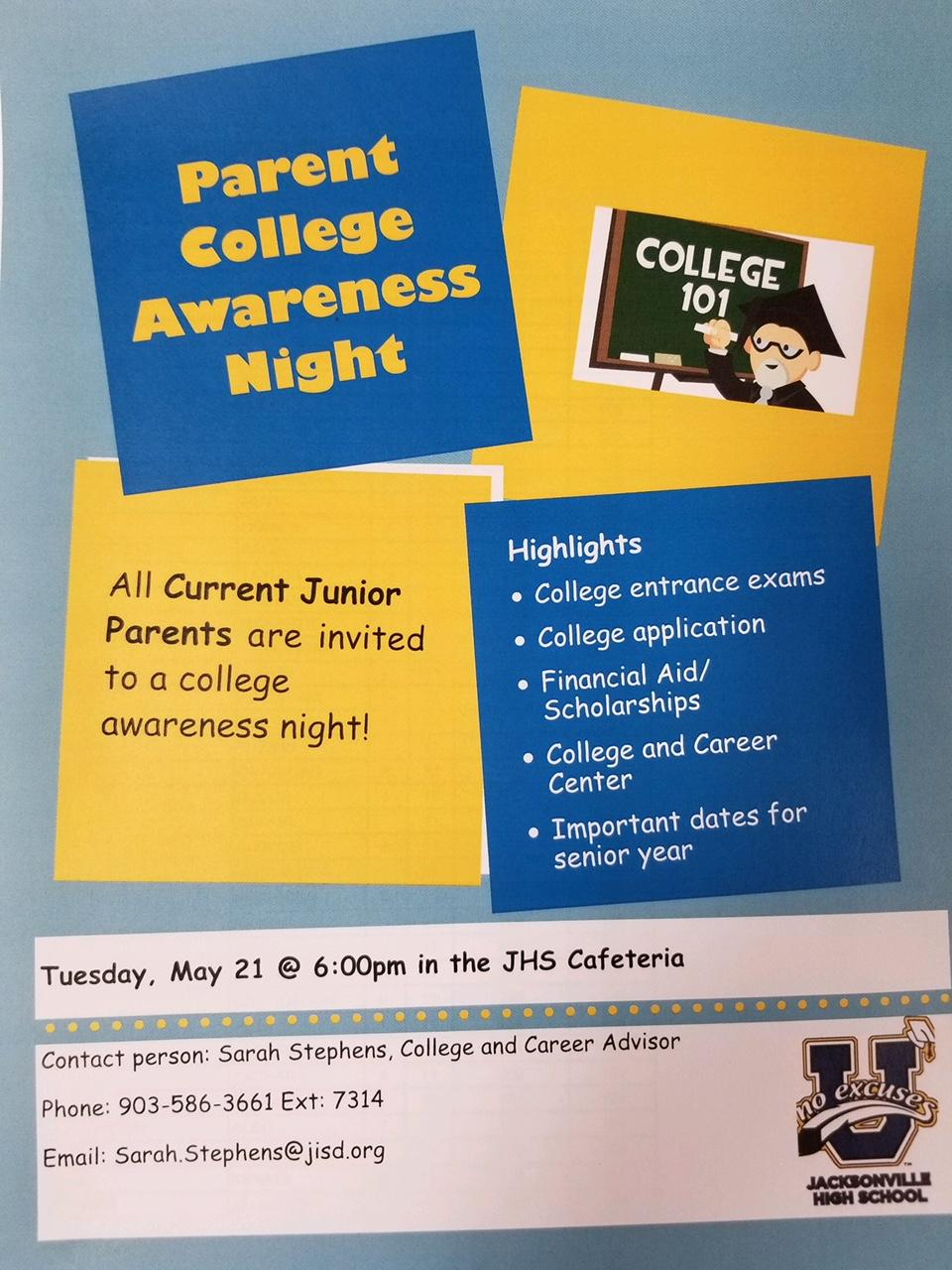 parent college awareness night