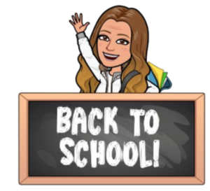 bitmoji or principal on back to school night sign