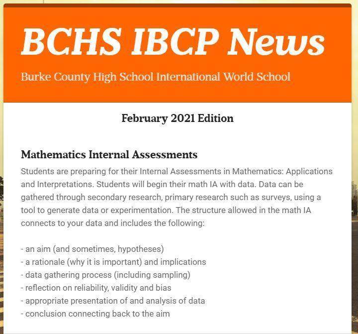 February IB Newsletter link