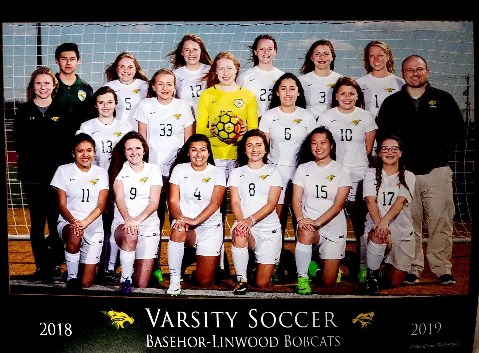 2018-2019 Girls Soccer team
