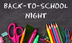 back to school night graphic