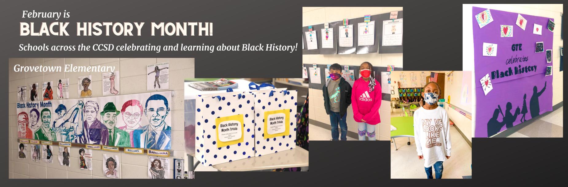 photos of Black History celebration.