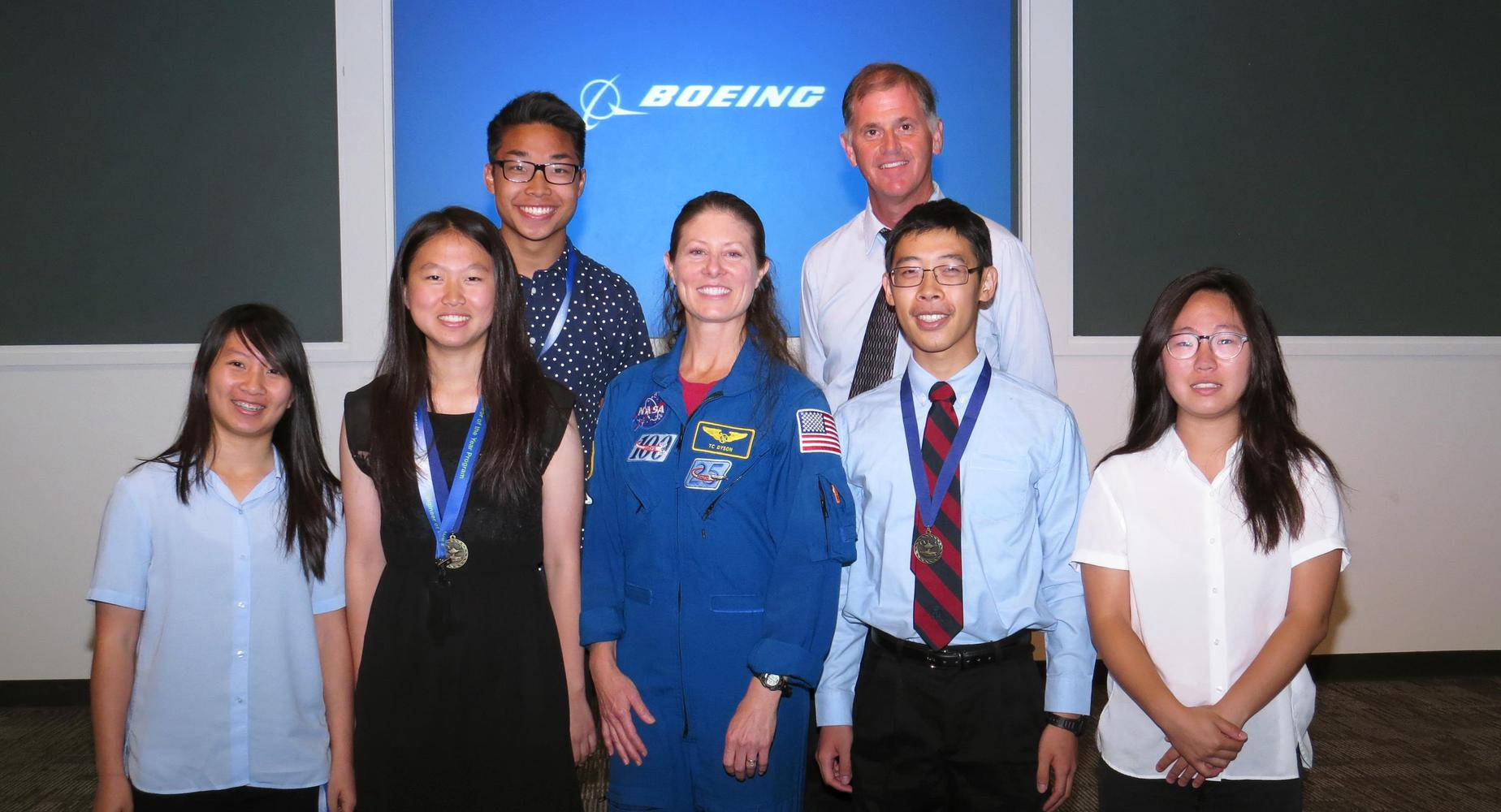 Students at Boeing internship