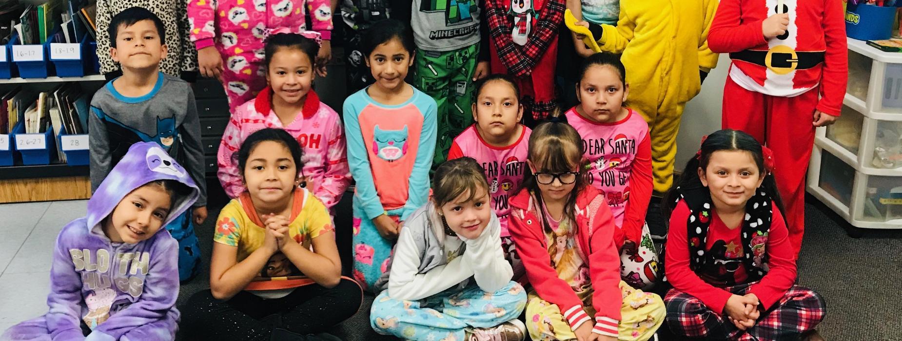 students wearing pajamas