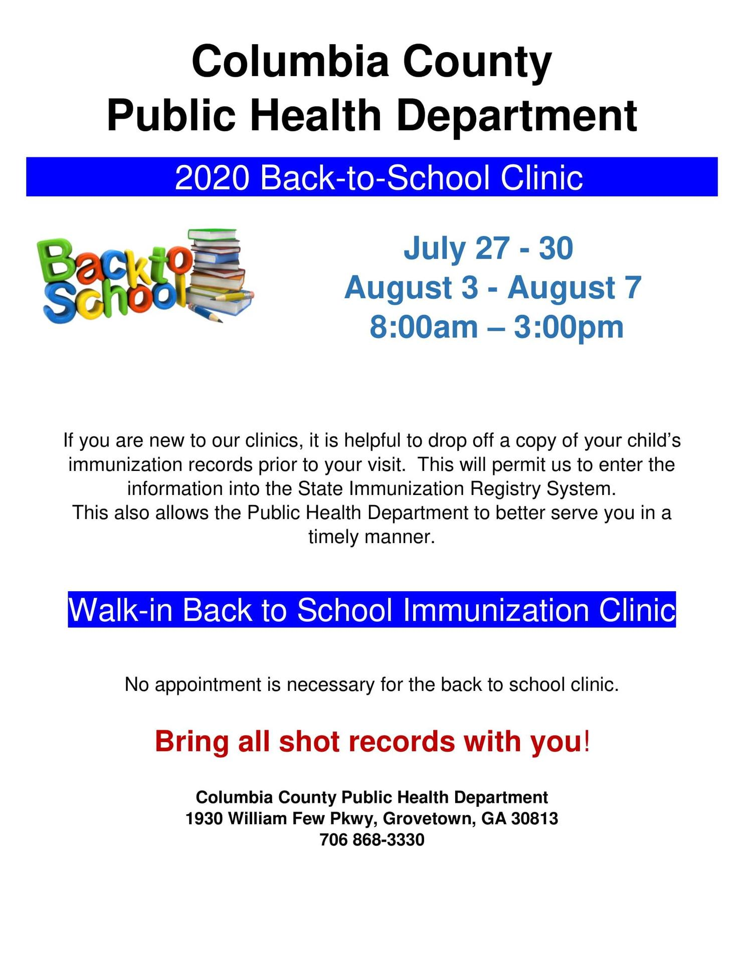 Back to School Clinic