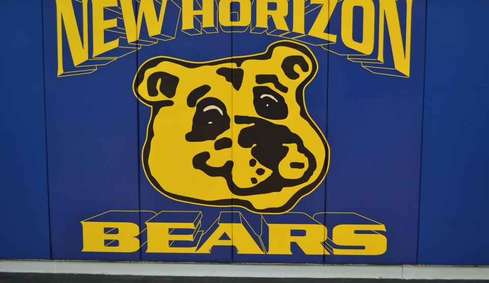 school logo of a bear